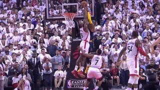 Bismack Biyombo Blocks LeBron James   Cavaliers vs Raptors    NBA PLAYOFFS   5.23.16
