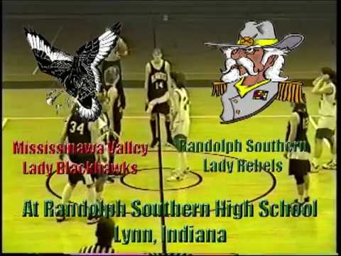 Mississinawa Valley Lady Blackhawks at Randolph Southern Lady Rebels 1 3 1998