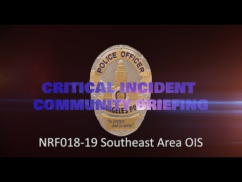 Southeast Area Officer Involved Shooting 4/30/19 (NRF018-19)