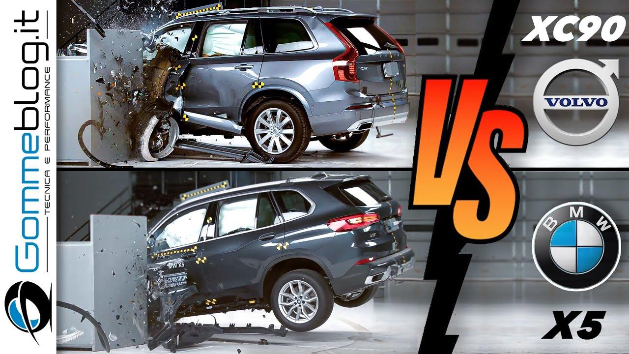 2019 Volvo XC90 vs 2020 BMW X5 - CRASH TEST - YouTube