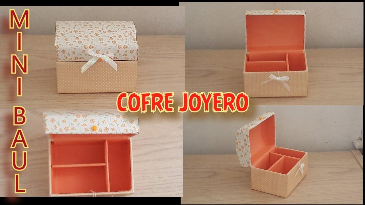 Como hacer un mini cofre baul joyero mini chest baul box youtube - Como hacer un baul para guardar juguetes ...