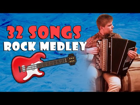 The Rock Medley on Accordion (32 songs in 8 minutes)