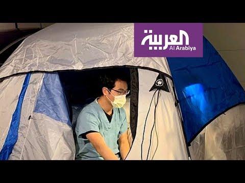 صباح العربية | طبيب ينام في خيمة حفاظا على سلامة أسرته من كورونا  - نشر قبل 1 ساعة