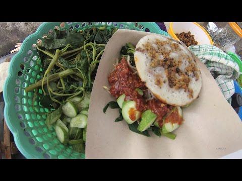 Indonesia Jakarta Street Food 1080 Part.1 Cirebon Sour Sambal Pancake Tempeh SambelAsemSerabiOncom