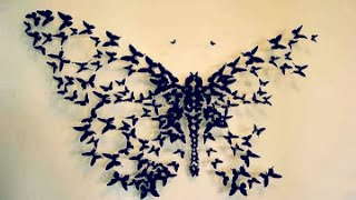 Diy: Butterflies Wall Decor | Бабочки на стене | Dianata Rose
