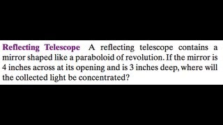 Reflecting Telescope Design.