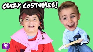 UGLY COSTUMES! KIDS BUY MY OUTFIT! COSTUME Challenge, Funny + Scary Clothes HobbyKidsTV