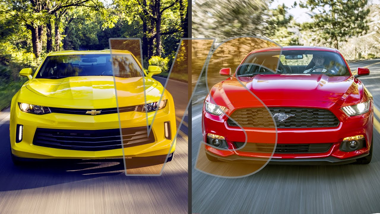 2016 Chevrolet Camaro Vs 2016 Ford Mustang Youtube