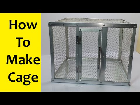 bird cage - How to make a cage - parrot cage diy