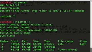 commands to check hard disk partitions and disk space on Linux
