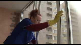Мытье окон от клининговой компании Балкис(Мытье окон и витрин от клининговой компании Балкис., 2015-04-06T17:41:40.000Z)