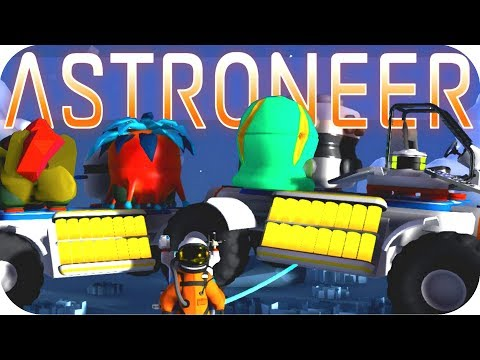 Astroneer Gameplay: BIG TRUCK TRAINS WORK PERFECTLY!!! ▶EXCAVATION UPDATE◀  Let's Play Astroneer #3
