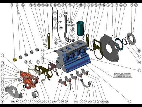 Ремонт двигателя ММЗ Д 245 Repair engine MMZ D 245