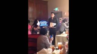 XIAN LIM SPEECH AKA KIM CHIU hehehe with KATG