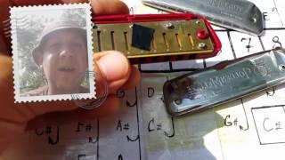 Лайфхак для передувов на губной гармошке.Урок №13.Overbend of a harmonica. life hacking