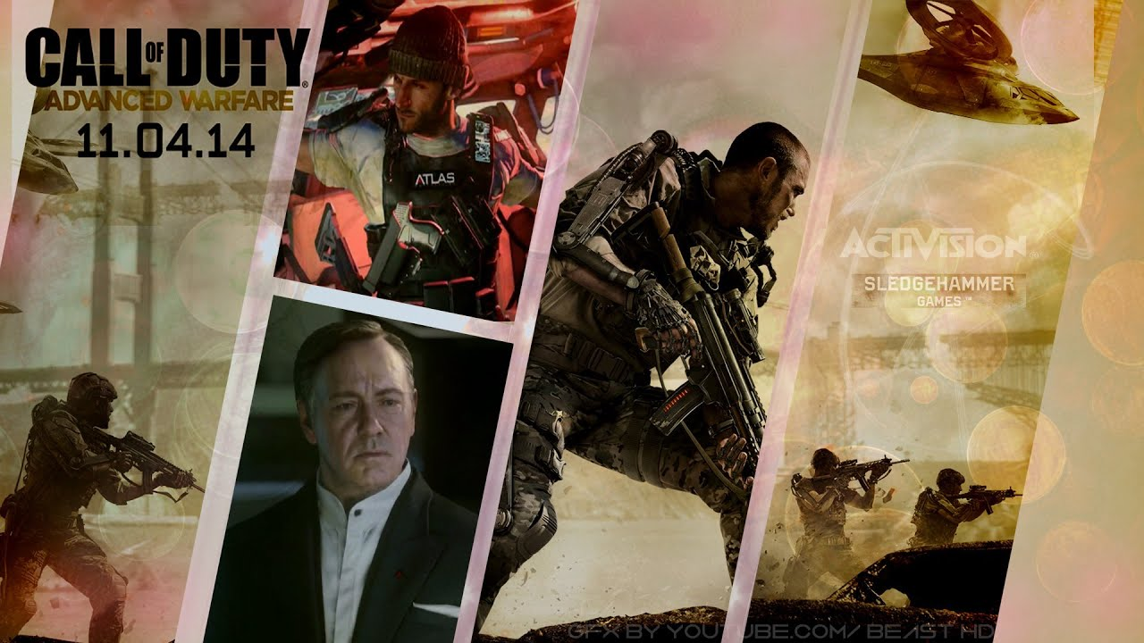 Speed Art Creating A Call Of Duty Advanced Warfare Wallpaper