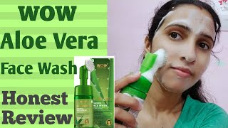 WOW Aloe Vera Foaming Face Wash/Honest Review After Using 25 days/Sunita world.