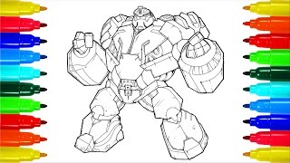 Coloring Transformers   Colouring Pages for Kids with Colored Markers