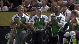 Invictus Games: highlights of the Jaguar Land Rover Exhibition Wheelchair Rugby match