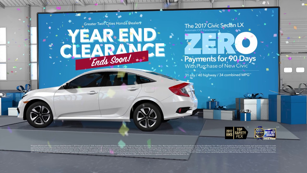Exceptional Year End Clearance Ends Soon | 2017 Civic