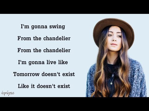 Chandelier - Sia (Cover by Jasmine Thompson)(Lyrics)