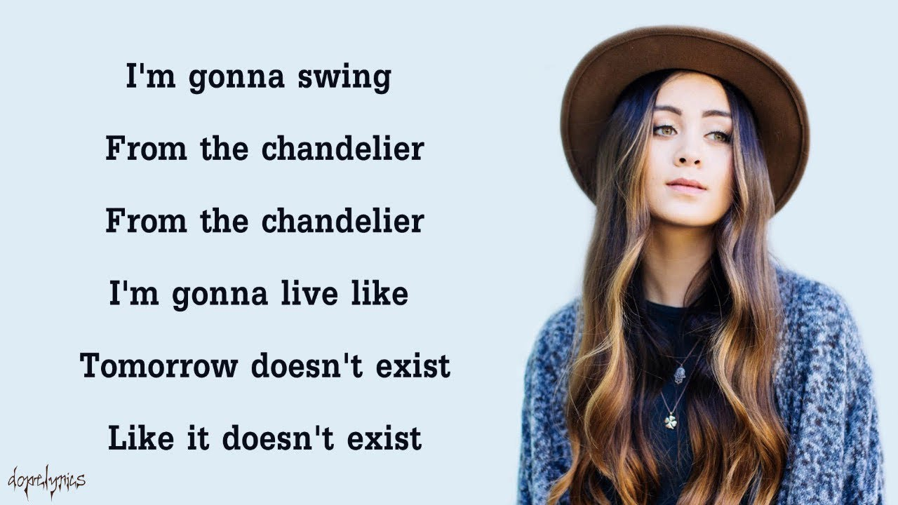 Chandelier - Sia (Cover by Jasmine Thompson)(Lyrics) - YouTube