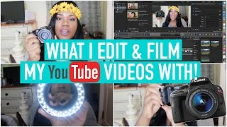 WHAT I EDIT & FILM MY YOUTUBE VIDEOS WITH! + CHEAP LED RING LIGHT | Mary Elizabeth