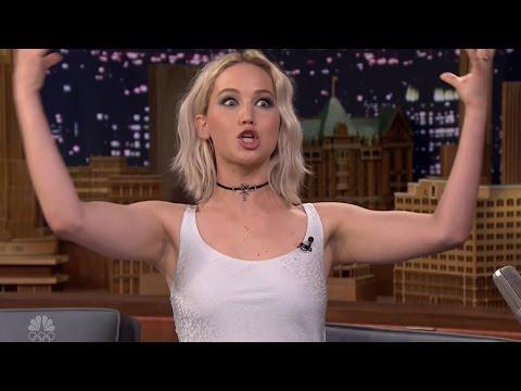 Jennifer Lawrence Talks Taking Ambien Before Hunger Games Scene & Being Media Trained On Fallon