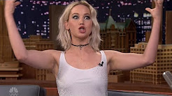Jennifer Lawrence Talks Taking Ambien Before Hunger Games Scene & Being Media Trained On Fallon