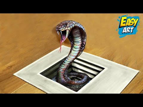 How to draw a 3D snake...
