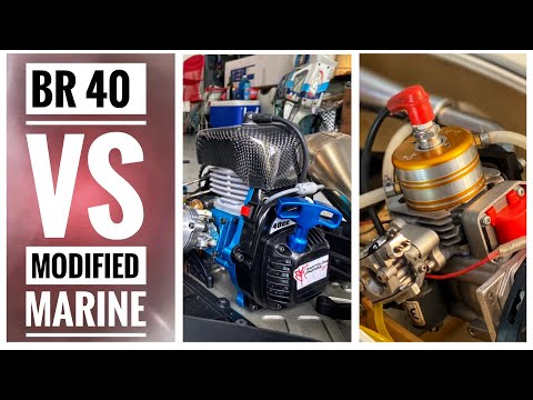 RC TRUCK Vs BOAT !! Comparing 2 Different Engines! BR 40 Vs Marine - Smith RC Studios