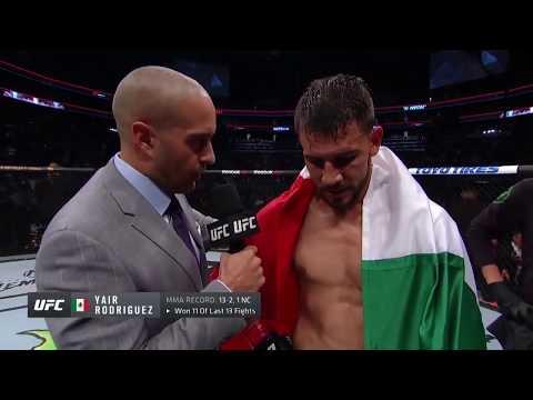 UFC Бостон: Яир Родригез - Слова после боя