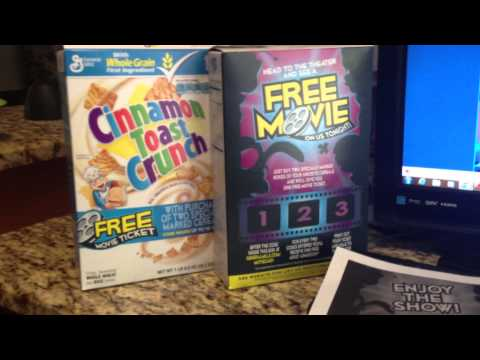Free Movie Tickets from General Mills Cereal :-)