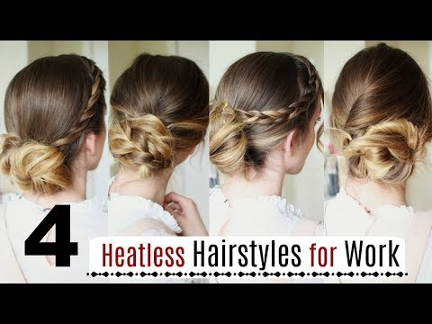 4 Quick Heatless Hairstyles for Work