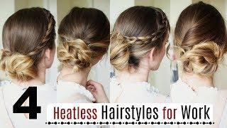 4 Quick Heatless Hairstyles for Work | Work Hairstyles | Braidsandstyles12
