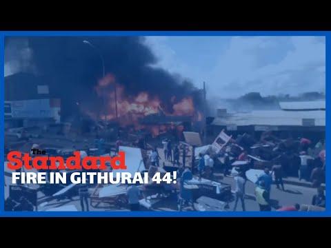 Fire Razes down section of workshops in Githurai 44