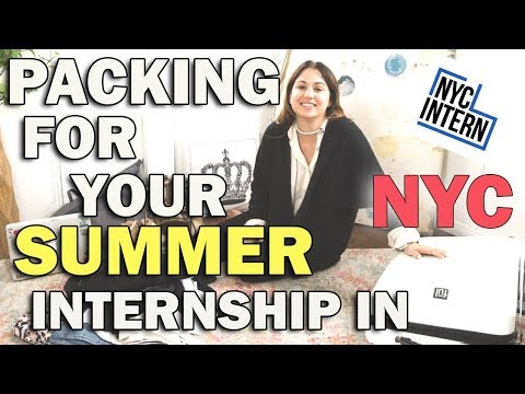 How to Pack For Your Summer Internship in NY! The Intern Queen