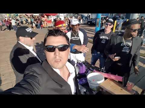 Santa Monica Pier , promoting our tv show Scrutiny. Sasha Milan , Sanel Budimlic and Philip Penza