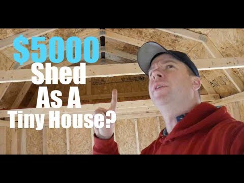 A 5000 Shed As A Tiny House Worth It Youtube