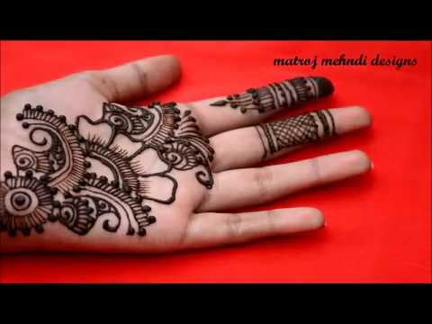 simple Easy Floral mehndi designs|Easy henna mehndi designs for hands|Matroj Mehndi Designs
