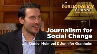 Journalism for Social Change with Daniel Heimpel and Jennifer Granholm -- In the Living Room
