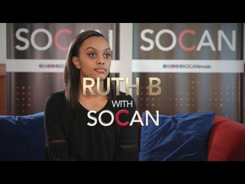 Ruth B with SOCAN