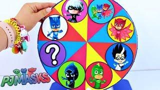 ROLETA SURPRESA PJ MASKS Herois de Pijama Learn Colors Canal KidsToyShow thumbnail