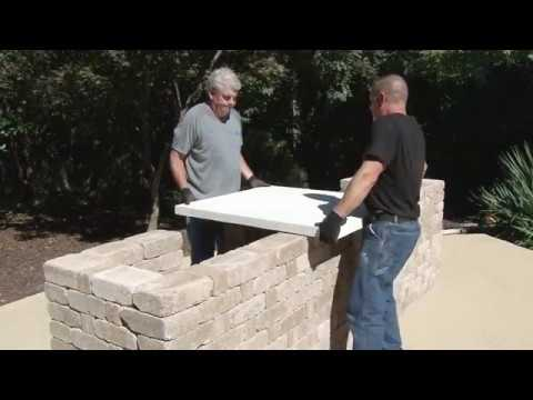 How To Build An Outdoor Kitchen With Rumblestone And Quikrete