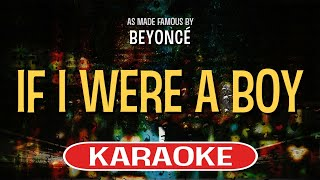If I Were A Boy | Karaoke Version in the style of Beyonce