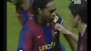 Ronaldinho Last Goal for Barca.