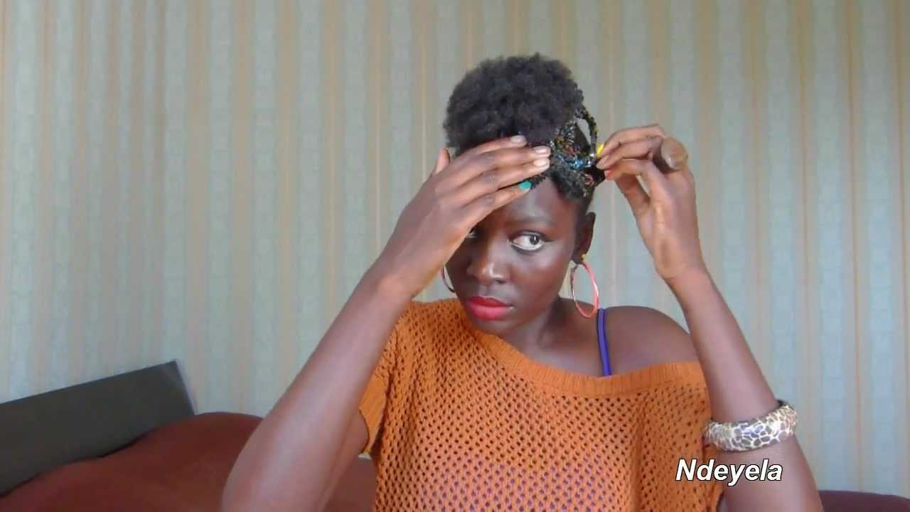 cheveux naturels coiffures avec 5 tresses africaines ndeyela style youtube. Black Bedroom Furniture Sets. Home Design Ideas