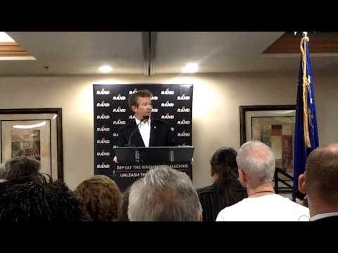 Rand Paul first campaign speech in Las Vegas