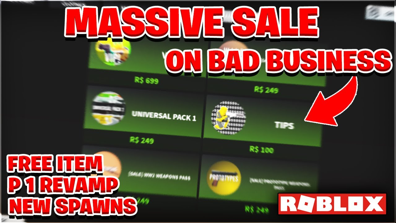 Universal Pack 1 Roblox New Anniversary Update In Bad Business Roblox Free Item Youtube