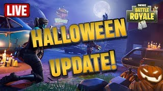 HALLOWEEN PATCH FORTNITE BATTLE ROYALE GAMEPLAY | PLAYING WITH ALEXRAMIGAMING RANK #1 | FORNITE DLC